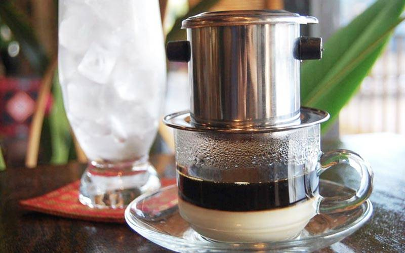 One of the specialties in Saigon is street Coffee