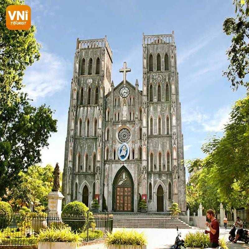 hanoi cathedral in vietnam