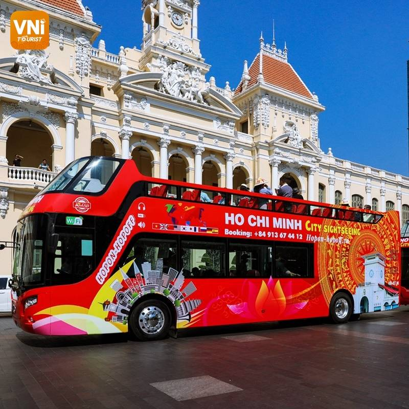 EXPERIENCE THE DOUBLE DECKER BUS WITH WIFI IN SAIGON